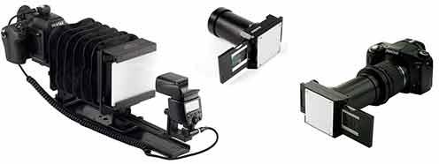 Оцифровать фотопленку можно в специальной насадке для цифрового фотоаппарата