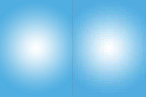 Пример увеличенного фрагмента фотографии формата JPEG с разным уровнем сжатия