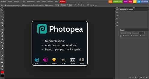 Интерфейс онлайн-фотошопа «Photopea» очень похож на сам Adobe Photoshop. В нем можно работать с PSD файлами через Интернет-браузер в любой операционной системе